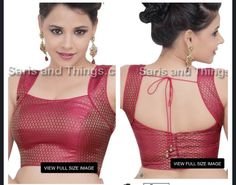 Sleeveless Sari blouse