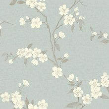 Buy John Lewis & Partners Cherry Blossom Wallpaper, Eau De Nil from our Wallpaper range at John Lewis & Partners.