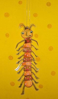Mr. Centipede puppet!