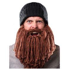 Lã inverno bigode engraçado handmade malha chapéus máscara pirata peruca barba…