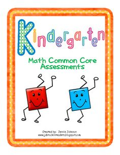 Kindergarten Math Common Core Assessments $