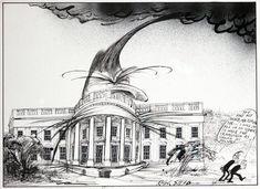 Ralph Steadman Signed Reagan White House Art Print