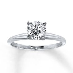 The perfect engagement ring :) Certified Diamond Ring 1 carat Round-cut 14K White Gold