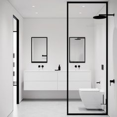 Bathroom decor for the master bathroom renovation. Learn bathroom organization, bathroom decor some ideas, bathroom tile a few ideas, master bathroom paint colors, and much more. Minimal Bathroom, Modern Bathroom, Small Bathroom, White Bathrooms, Luxury Bathrooms, Master Bathrooms, Bathroom Kids, Dream Bathrooms, Contemporary Bathrooms