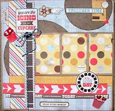 IT'S A GOOD DAY Premade page 12x12 scrapbook layout family friends kids vacation | eBay