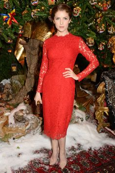 The Best Red Dresses of 2014