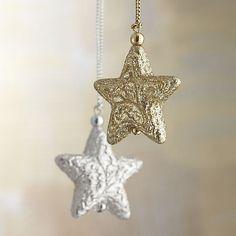 Glitter Star Ornaments I Crate and Barrel