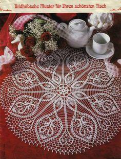 Crochet lace mat