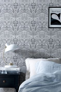 Wallpaper by ellos Tapet Kelly Chinese Wallpaper, Home Wallpaper, Morris Tapet, Art Nouveau, How To Install Wallpaper, Inspirational Wallpapers, Pattern Wallpaper, Wall Colors, Decoration
