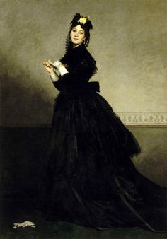 La Dame au Gant, Carolus-Duran 1869 - I got to see the real life one, 6 feet tall!