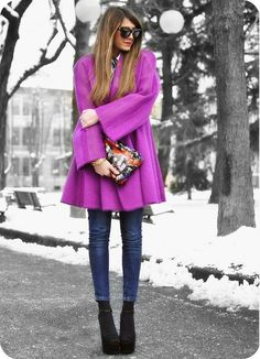 The color of this coat is stunning