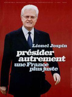 24) L'affiche collector de Jospin au second tour ! Lionel Jospin au festival de Cannes ?