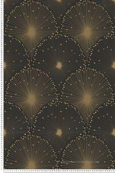 Golden Fireworks – Wallpaper Spot 3 of AS Creation Source by Motif Art Deco, Art Deco Pattern, Art Deco Design, Art Deco Wallpaper, Pattern Wallpaper, Bedroom Wallpaper, Santa Lucia, Fireworks Wallpaper, Caravan Decor