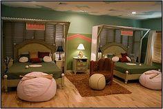 Dormitorios para niños tema deportes - Colores en casa