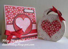 cricut valentine's day cards | Stampin' & Dancin' With Riley: Valentine's Card & Box