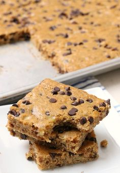 These Chocolate Chip Banana Bars are perfect for breakfast, lunch, or a snack! They are delicious, filling, and your whole family will love them. Packed with 5 ripe bananas and made with whole wheat flour they're a great option when you're hungry or on the go.