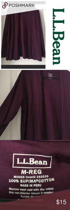 LL Bean NWOT cardigan LL Bean NWOT never worn, size medium, plum purple cardigan, lightweight L.L. Bean Tops