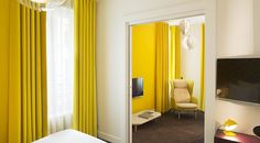 Bright and zingy hotel room