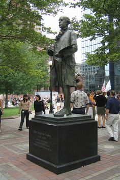 Boston - Back Bay: Copley Square - John Singleton Copley Statue | Flickr - Photo Sharing!