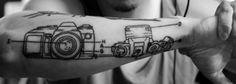 DSLR Schematics Tattoo  Done by Paula @ Big Fish Tattoo, Solana Beach, CA