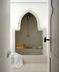 modern global style. bathroom