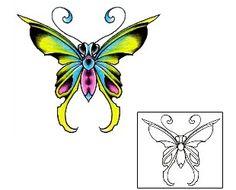 Butterfly Tattoos DFF-00744 Created by Damien Friesz