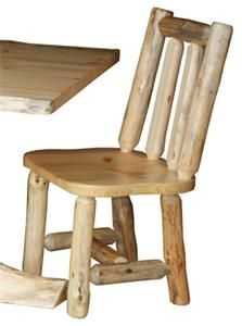 Amish Log Furniture Side Dining Chairs