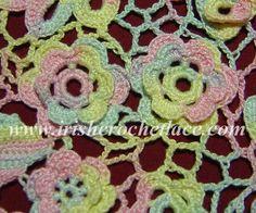 Очарование ирландского кружева - Floral variations