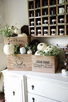 DIY Easy Country Farmhouse Fall Crates