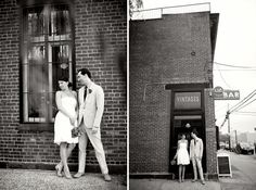 A couple who got married at the green building - love the vintage feel to these photos