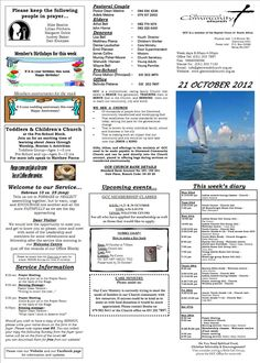This bulletin insert and church flyer was designed to gain for Weekly bulletin template