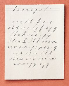 """Nine pen strokes (top) can be used in combination to make most of the letters in the lowercase alphabet. To create thick strokes, add pressure to the tip of the nib. For fine lines, lessen the pressure. It is easiest to make thick strokes using a downward motion and thin strokes while the pen is moving upward. To make a dot (as for over the letter """"i""""), press the nib into the paper, allowing the ink to pool. Always lift your pen after each stroke. Once you are comfortable with the strokes…"""