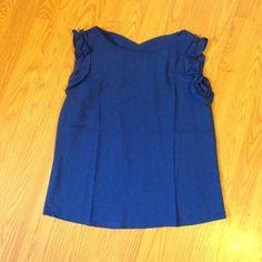 Royal Blue Ruffle Cap Sleeve Blouse  Brand new without tags. Ruffle cap sleeves chiffon blouse. Size Medium. Boutique Tops Blouses