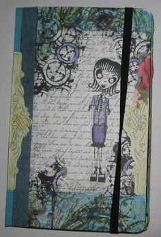Artwork created by Anne May Samuelsen using rubber stamps designed by Daniel Torrente for Stampotique Originals
