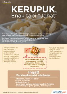 Kerupuk, enak tapi jahat Health Diet, Health And Nutrition, Health And Wellness, Health Fitness, Healthy Beauty, Healthy Tips, Healthy Recipes, Health Education, Herbalism
