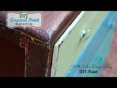 How-to Paint/Distress/Antique Furniture: Project 1 painted green, refinished, and distressed - YouTube