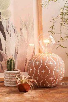 Alder Terracotta Table Lamp