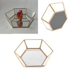 Hexagonal Clear Glass Jewelry Tray Makeup Organizer Succulent Planter Box-in Jewelry Packaging & Display from Jewelry & Accessories on Aliexpress.com | Alibaba Group