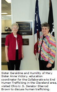 Sister Geraldine Nowak Goes to DC on behalf of STOP!