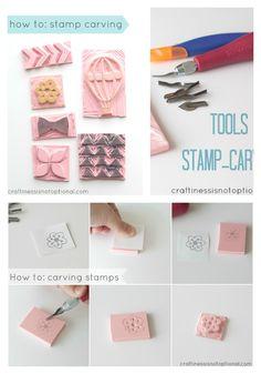 How to make a custom stamp, DIY stamp.  Craftinessisnotoptional