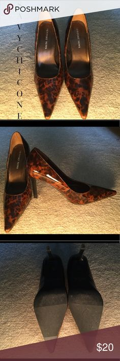 """💋SEXY TORTOISE HEELS I so love these shoes but I can't wear 4"""" heels anymore.  These sexy shoes go with everything! Newport News Shoes Heels"""