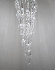 The Calle pendant light with linear canopy was designed by Luca Martorano and Mattia Albic in and is made in Italy. Inspired by the beautiful, natural form of the Calle lily flower, the Calle pendant light adds elegance, grace, and ambient l. Pendant Lamp, Pendant Lighting, Crystal Pendant, Interior Lighting, Chandelier Lighting, Lighting Ideas, Multi Light Pendant, Twinkle Lights, Calla Lily