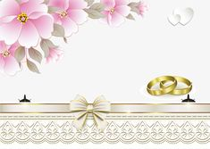 Heart-shaped ring flowers wedding invitations, Love, Pink Flowers, Advertising Design PNG and Vector