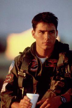 "Tom Cruise in ""Top Gun"" Guilty pleasure celeb crush.  The struggle is real."