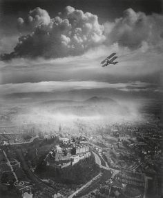 Prints of Aerial view of Edinburgh by National Galleries of Scotland (500mm x 700mm) | Shop | Surface View