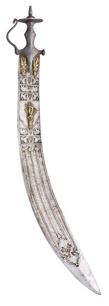# AN INDIAN EXECUTIONER'S SWORD (TEGHA), LATE 18TH/19TH CENTURY
