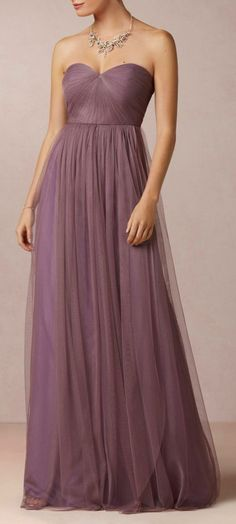 Mixed lavender and lilac, beautiful bridesmaid dress.