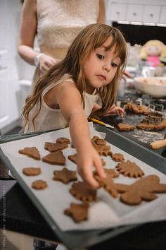 Mother and Daughter Baking Cookies by Milles Studio - Stocksy United Twelve Days Of Christmas, Christmas Tree Farm, Christmas Gingerbread, Christmas Kitchen, Christmas Baking, Christmas Themes, Christmas Cookies, Christmas Holidays, Gingerbread Village