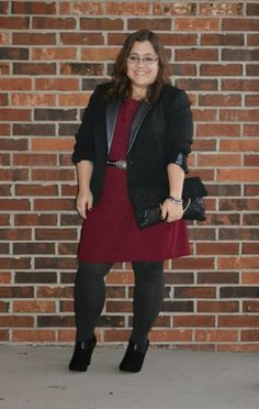 12 Days of Holiday: Festive for Work Petite Fashion, Curvy Fashion, Plus Size Fashion, Church Outfits, Church Clothes, Office Attire, Office Wear, Style Me, Cool Style