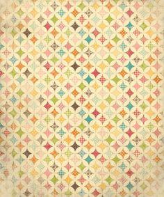 Vintage Quilt Original - rock the drops  60X72